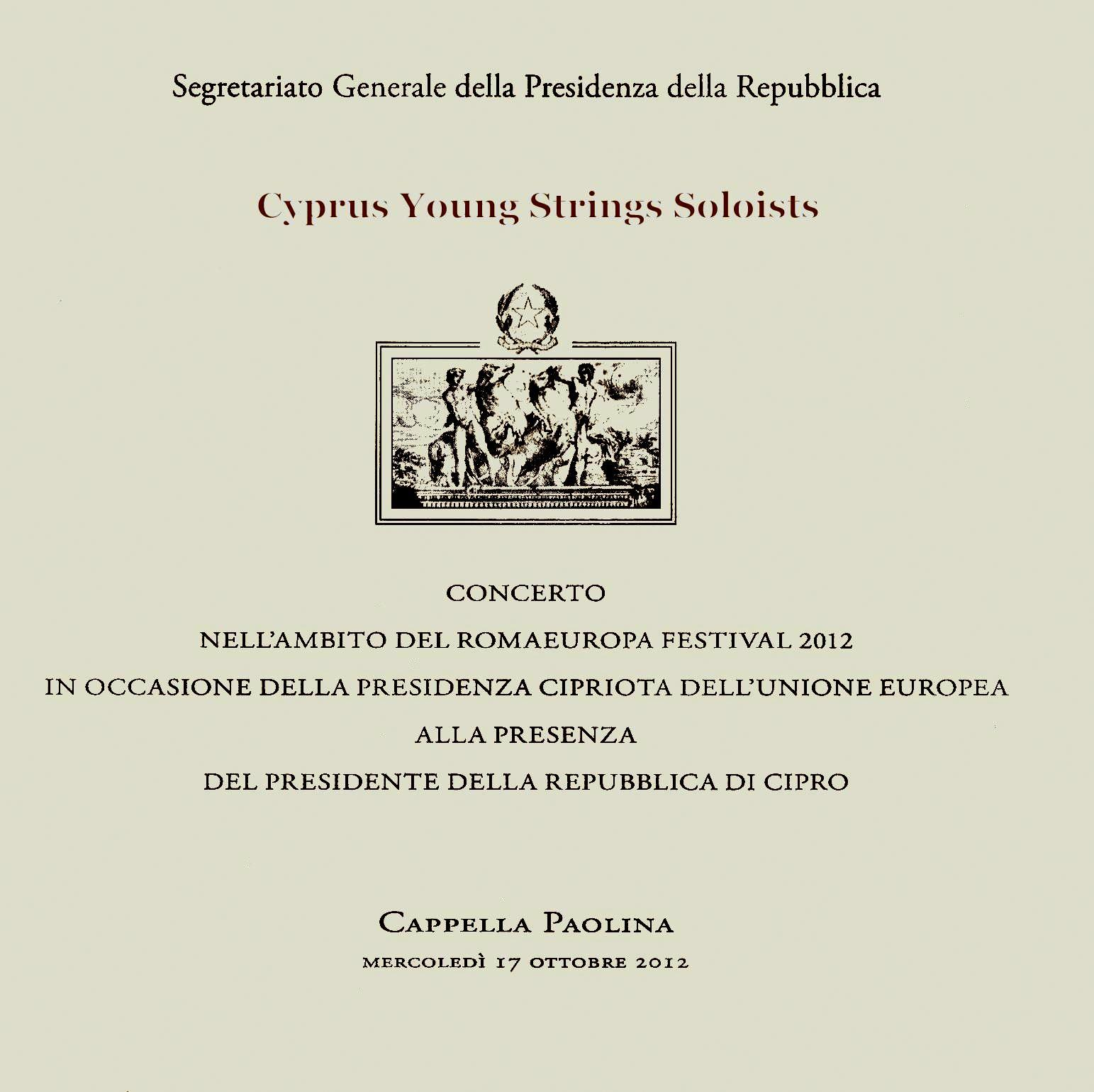 Cyprus Young Strings Soloists